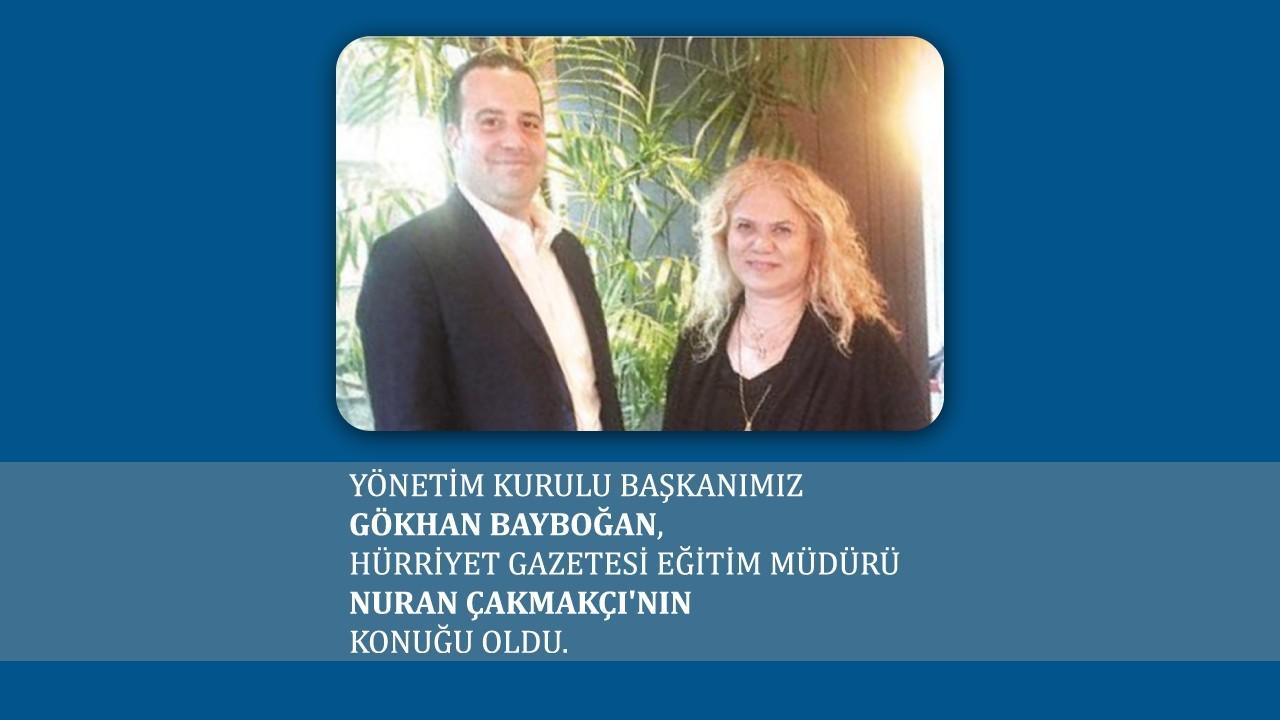 Yönetim Kurulu Başkanımız Gökhan Bayboğan Nuran Çakmakçı'nın Konuğu oldu.