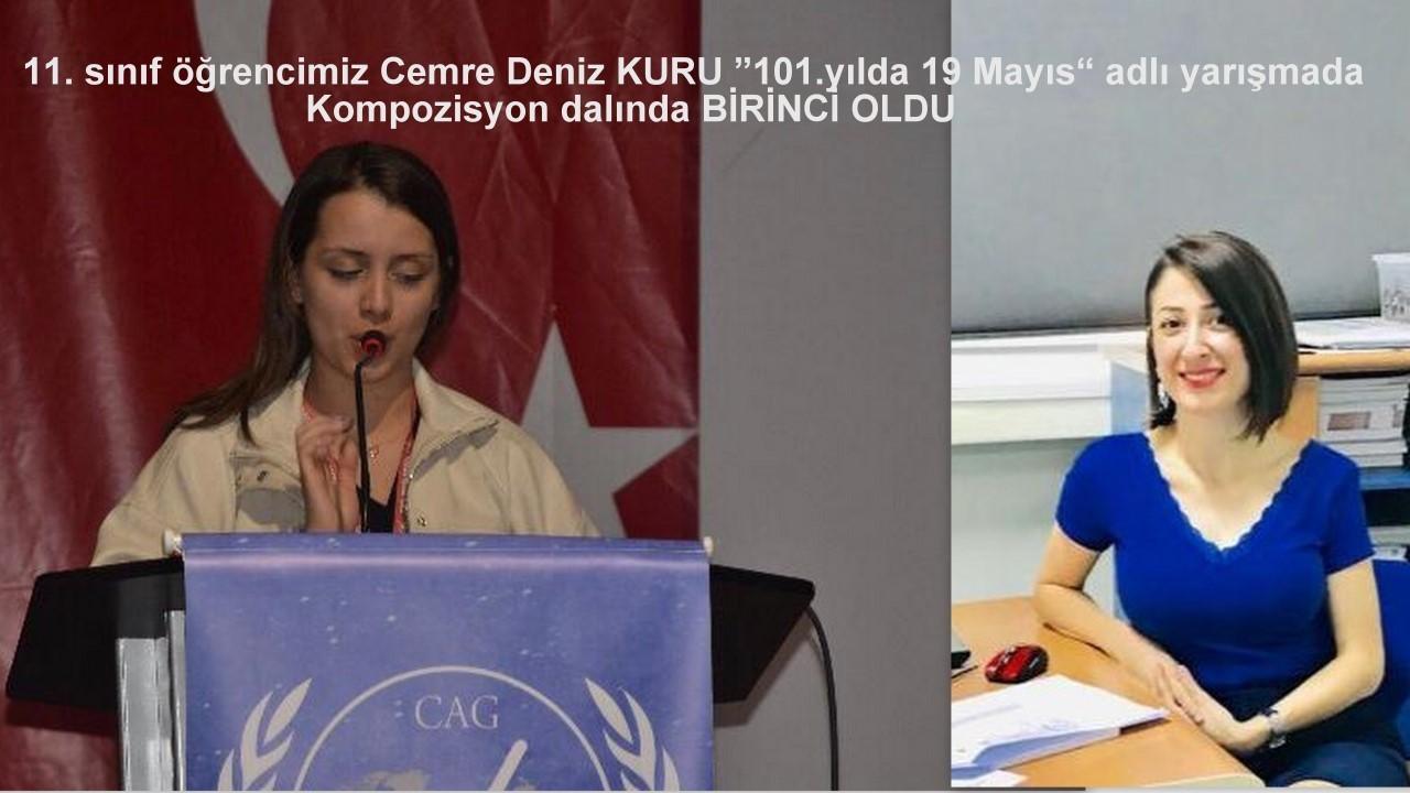 """""""101. YILDA 19 MAYIS"""" ADLI YARIŞMADA BİRİNCİ OLDUK"""